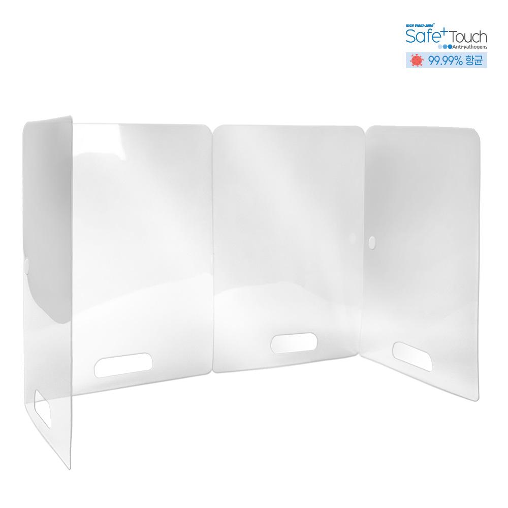 99.99% Portable Antibacterial Desk Shield / Foldable Transparent School Kindergarten Office Portable Partition