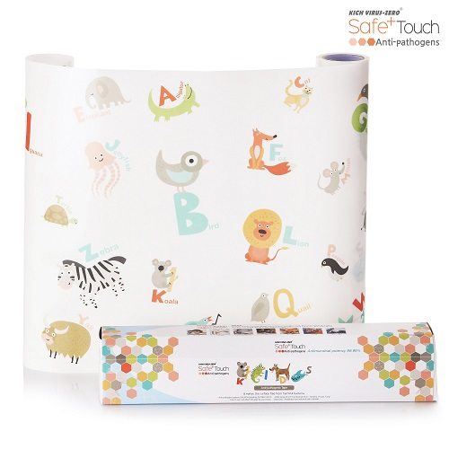 Safe+ Touch Antibacterial Film Transparent Kids (Adhesive/Roll Type) Daycare Kindergarten Kids Cafe